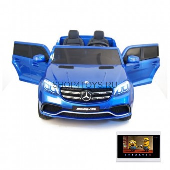 Детский электромобиль Mercedes Benz GLS63 LUXURY 4WD 12V MP4 - Blue - HL228-LUX-MP4