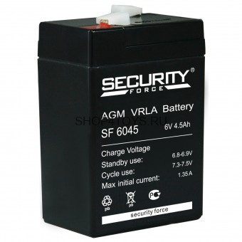 Аккумулятор Security Force 6V4.5Ah AGM VRLA - SF6045